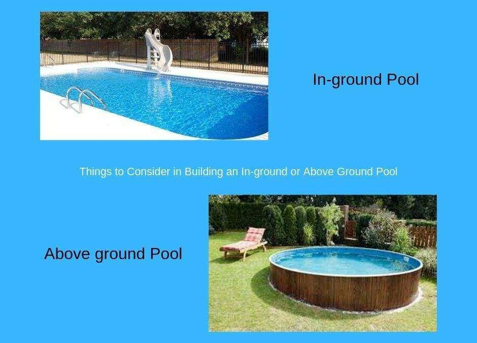 In-ground or Above Ground Swimming Pool